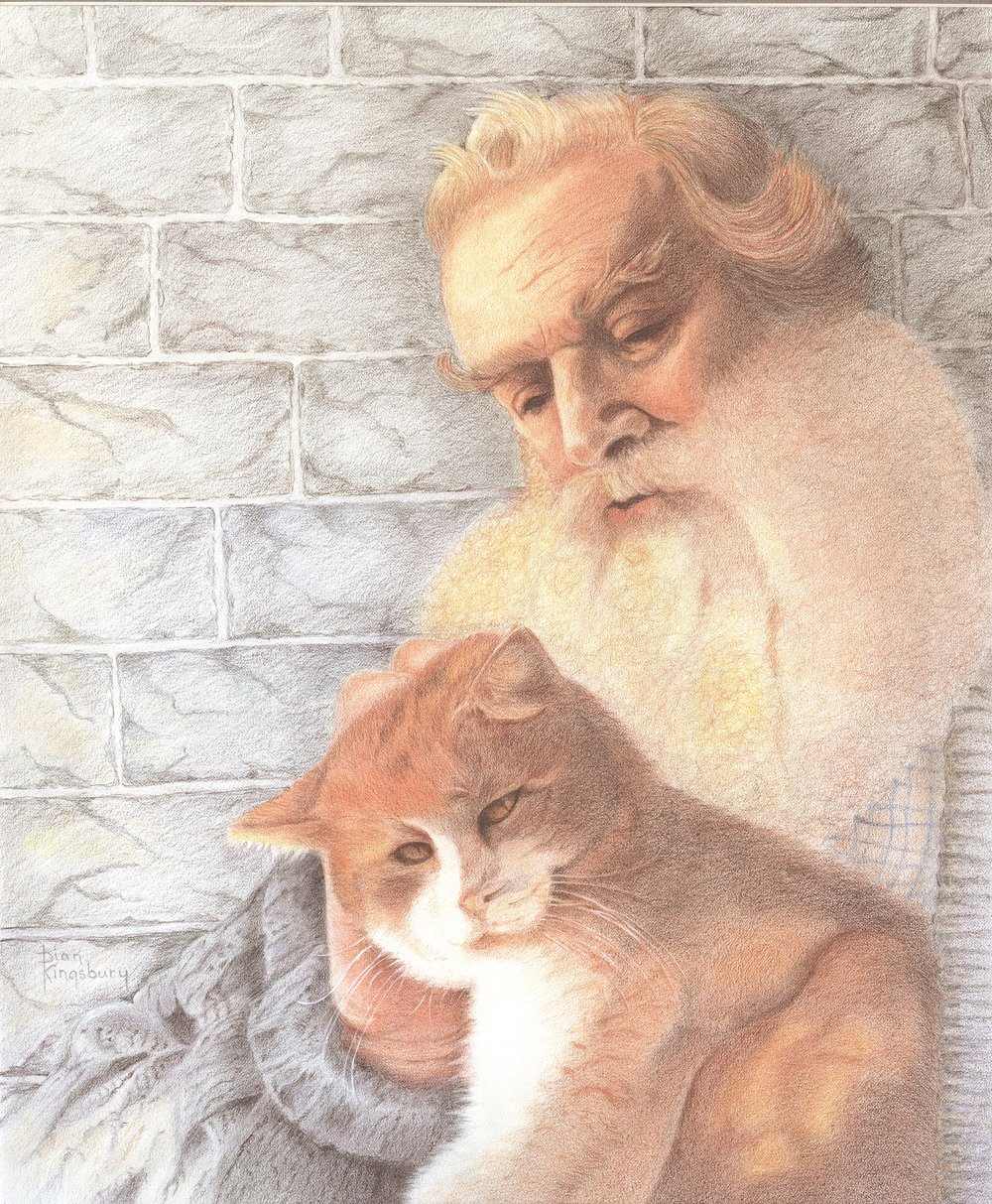 "Dian Kingsbury's ""Old Man and His Cat"""