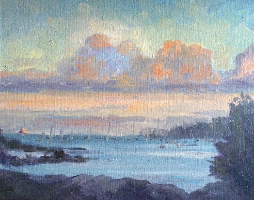 "Barbara Rossitto's ""New London Bay Sunset"""