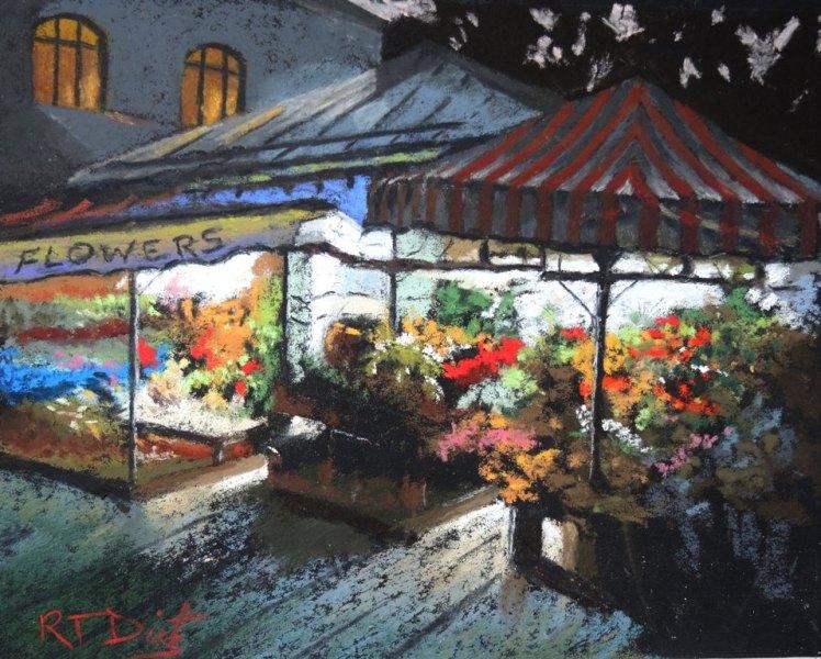 """Bob Dietz's """"Flower Market"""""""