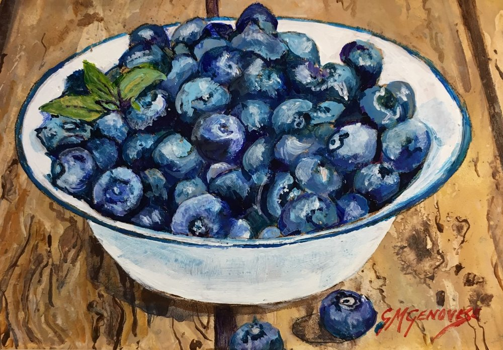 "Gigi Genovese's ""Bowl of Blueberries"""