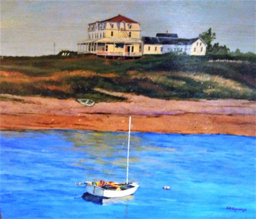 """Gigi Genovese's """"Narragansett Inn Block Island"""""""