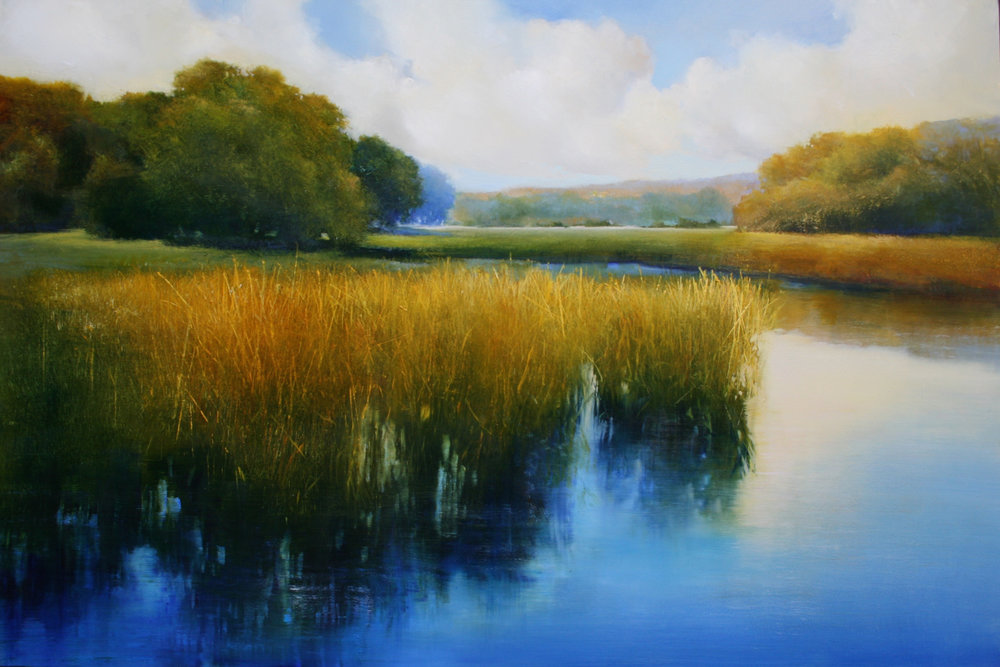 """Janine Robertson's """"Sunlit Marsh II"""""""