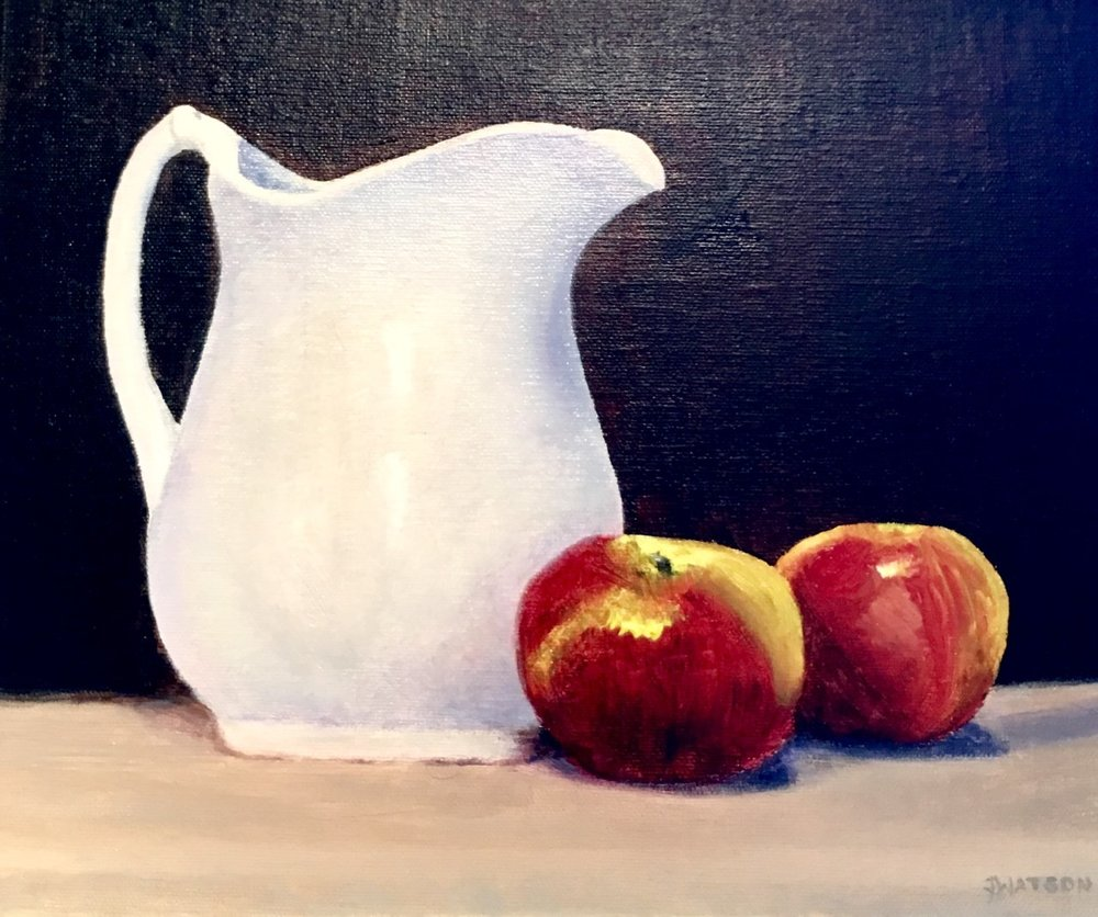 "Jean Watson's ""Still Life with Apples"""