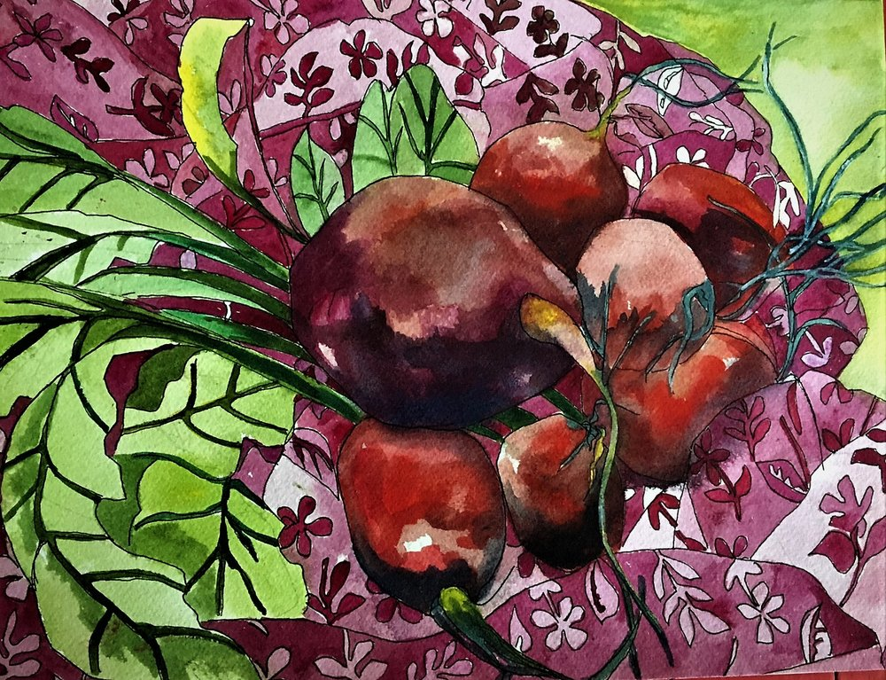 "Claudia Van Nes's ""Giant Radishes"""