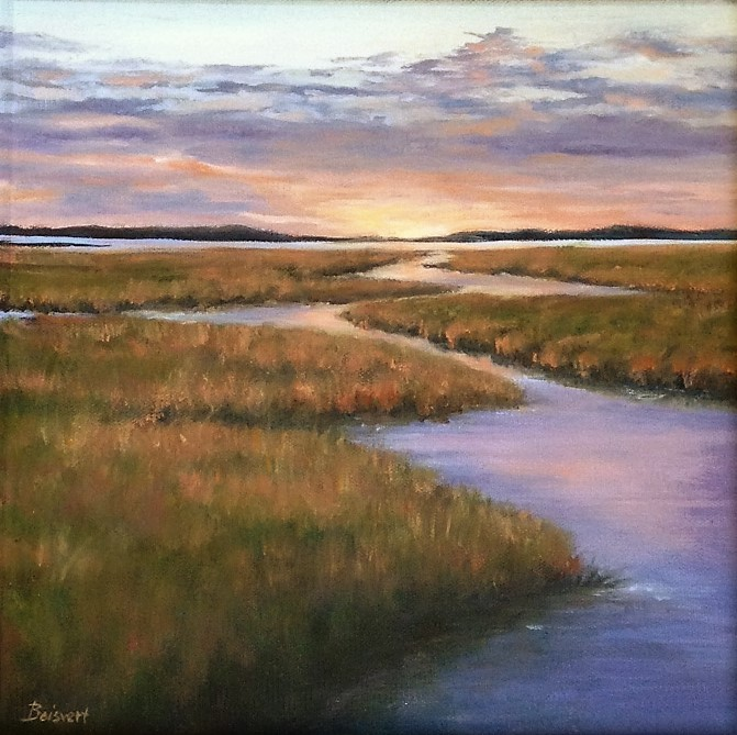 Evening Glow Over the Marsh