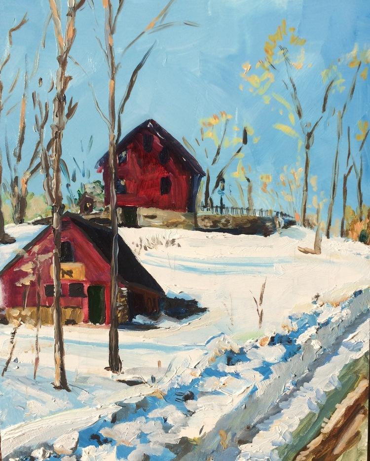 Barns in Blizzard