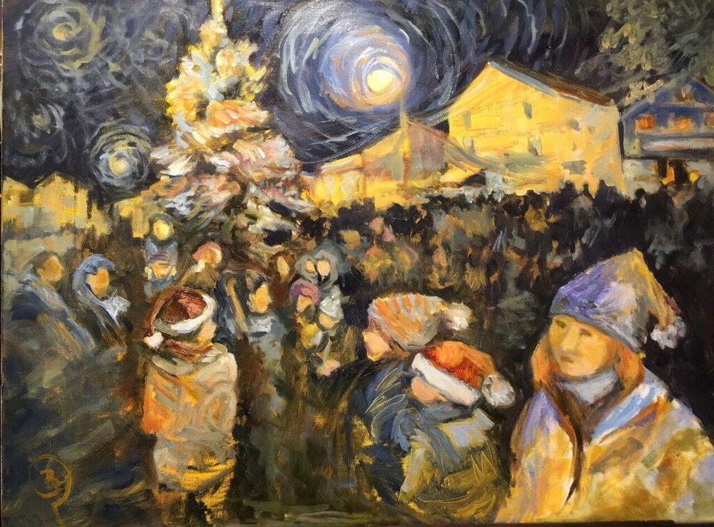 "Barbara Rossitto's ""Lighting the Christmas Tree IV"""
