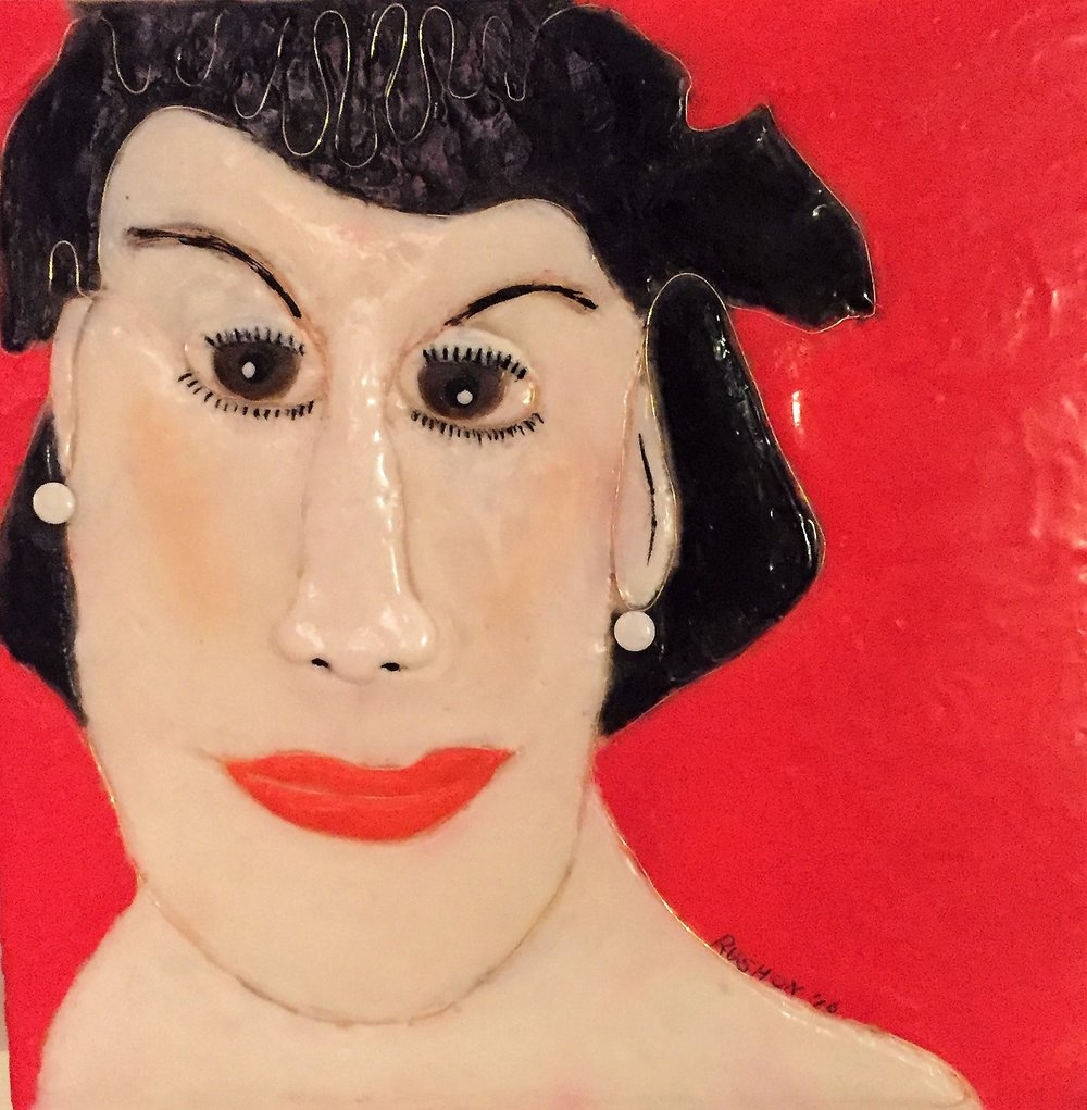 """Patricia Rushon's """"Woman with Pearl Earrings"""""""