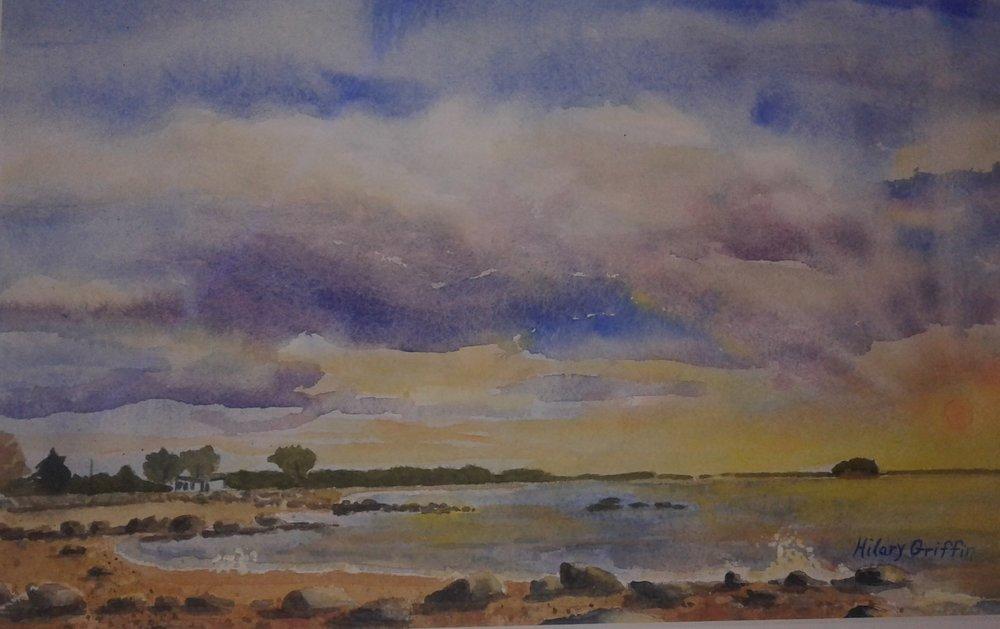 Blazing Sky Over Tuxis Island