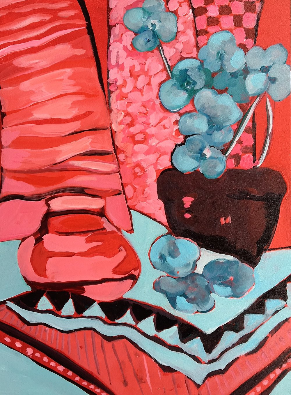 "Claudia Van Nes "" Flowers and Fabric"""