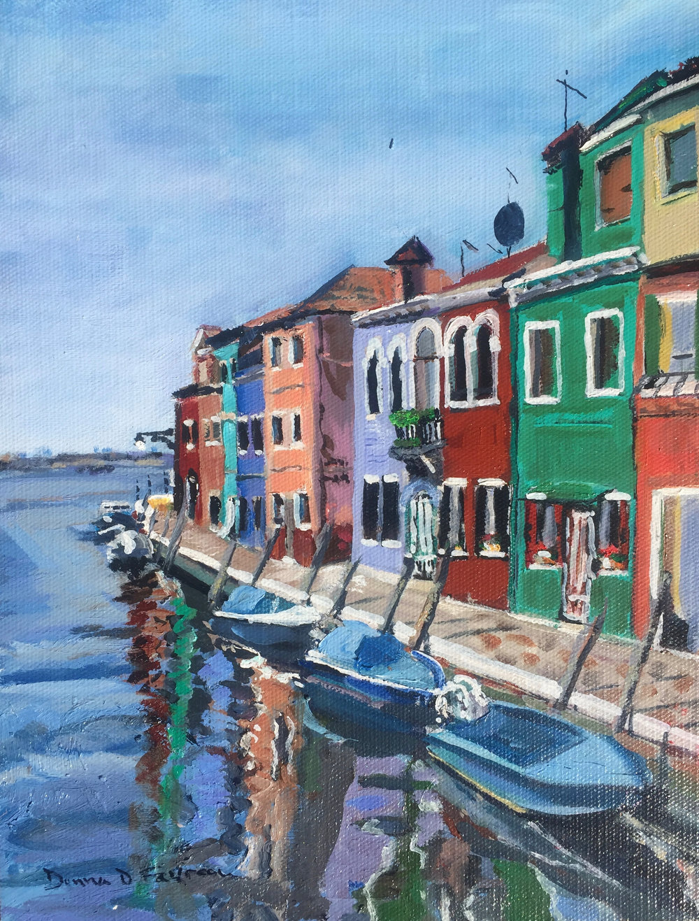 "Donna Favreau's ""Colorful Houses Burano"""