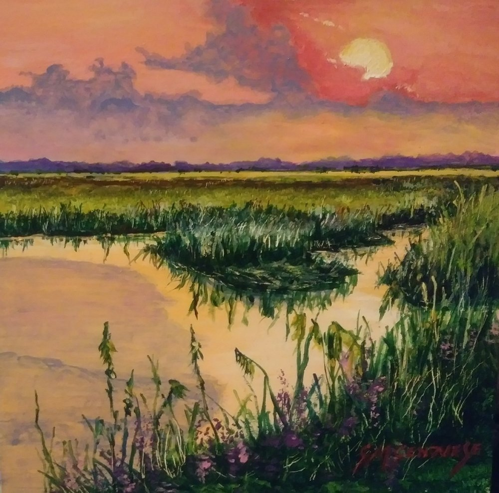 Salt Marsh Trilogy Sunset