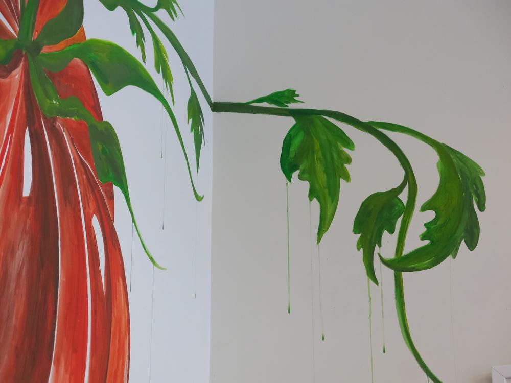 Mural details.