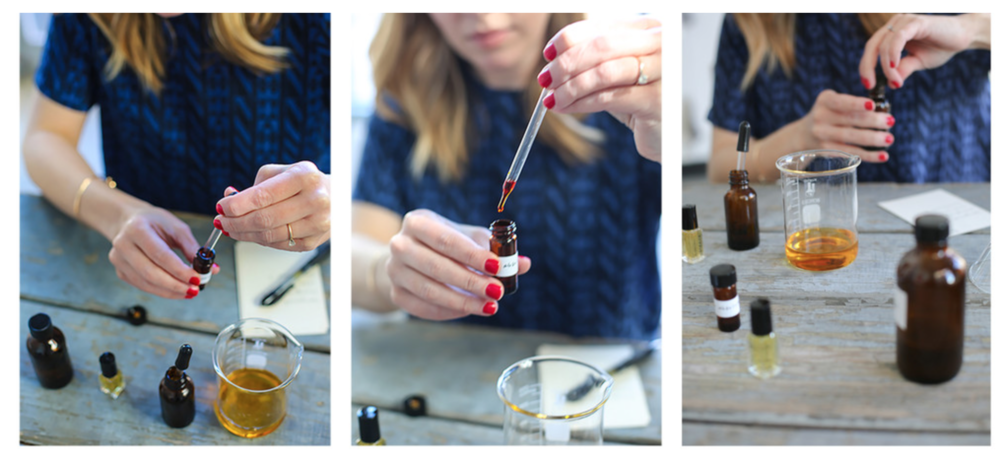 Susannah whips together distinct scents using botanicals.