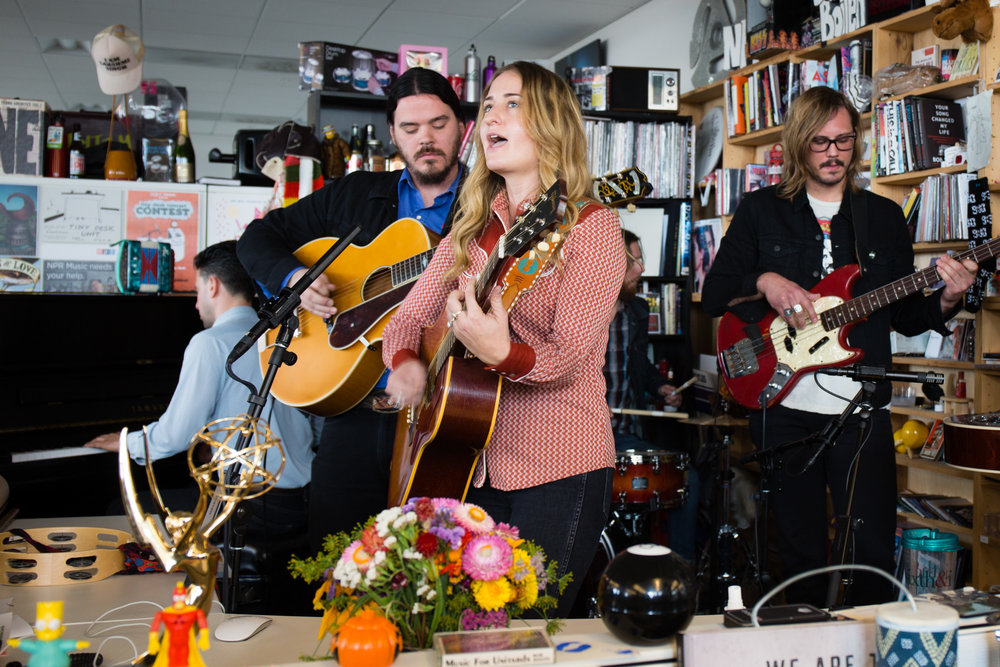 Margo Price plays a Tiny Desk show on November 9th, 2016. (Victoria Milko)