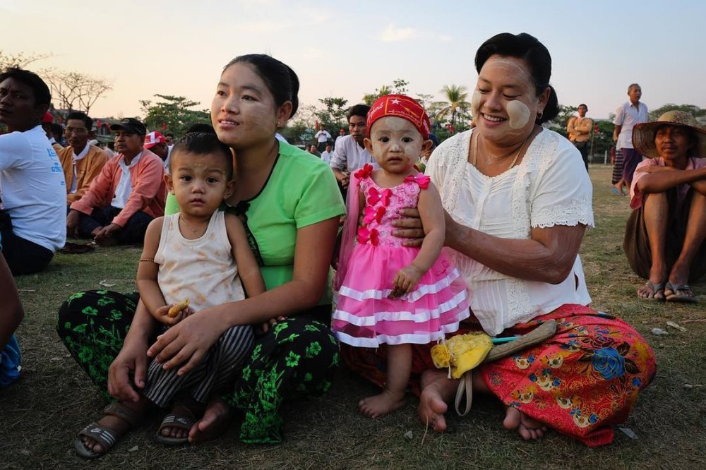NLD rally. Yangon, Myanmar.