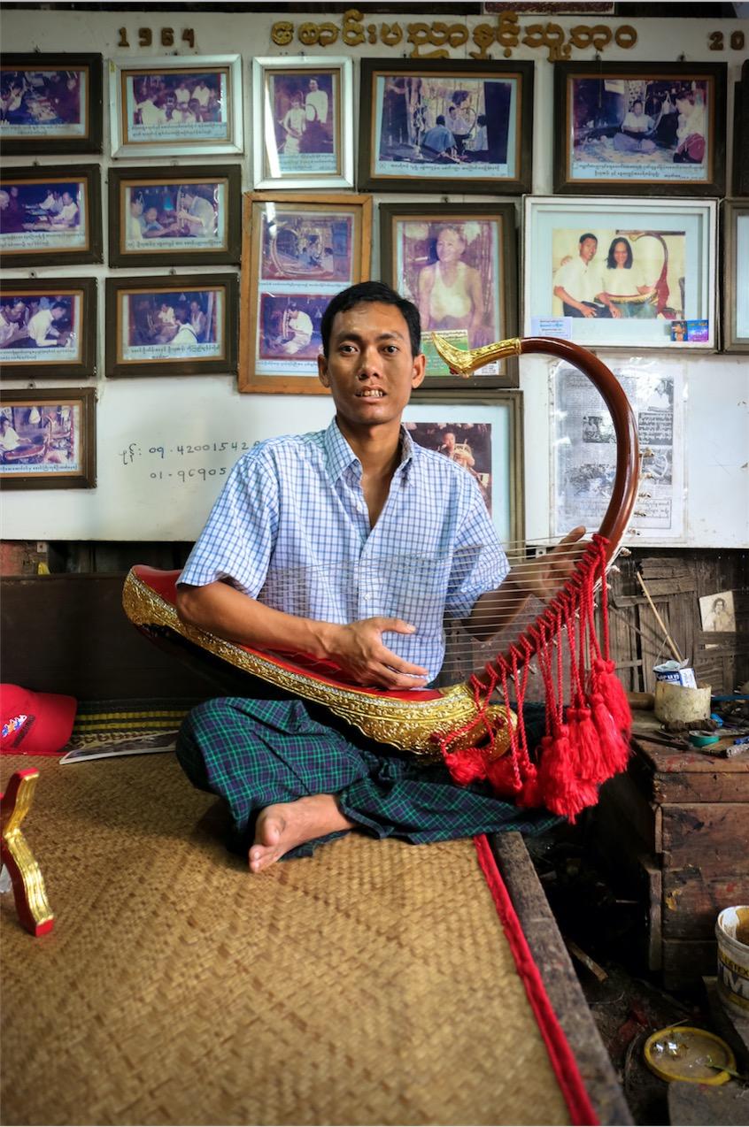 Aye Aung Win in his Yangon studio. July 2017 - Image Copyright VictoriaMilkoPhoto.Com