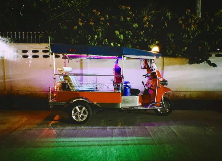 A night tuk-tuk in Chiang Mai, Thailand. December 2018