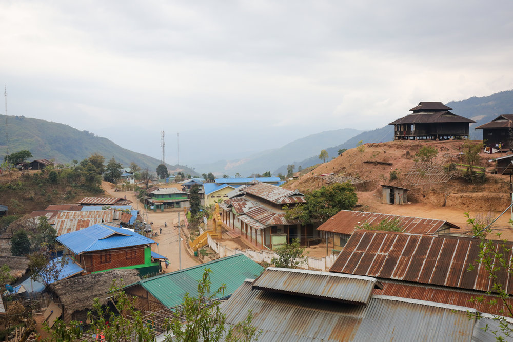 Lahe Township, the capital of the Naga Self-Administered Zone. Nagaland, Myanmar