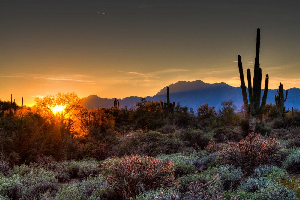 """McDowell Mountain Park Sunset"", AZ"