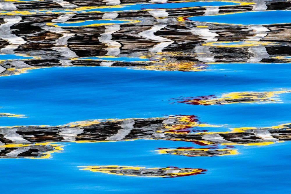 """""""Harbor Wall Reflection III"""", Fogo Island"""