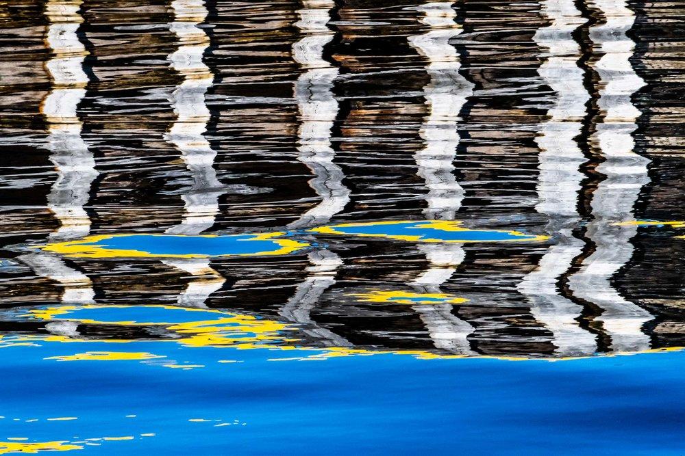 """""""Harbor Wall Reflection II"""", Fogo Island"""
