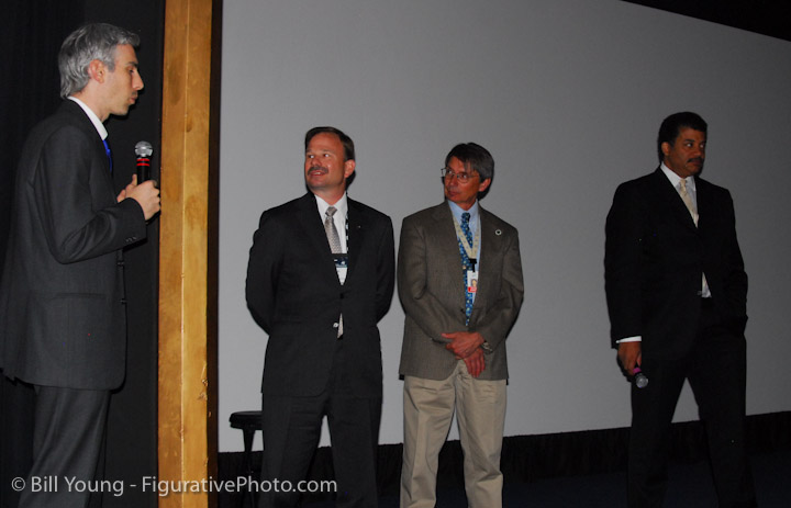 Yes, that's Neil de Grasse Tyson on the right. At the National Space Society Conference, Colorado Springs, CO.