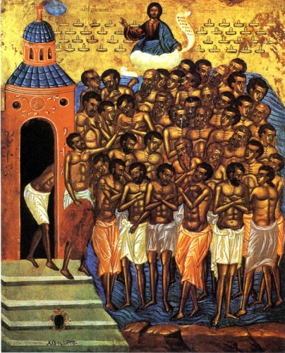 Holy Forty Martyrs of Sebaste, pray to God for us!
