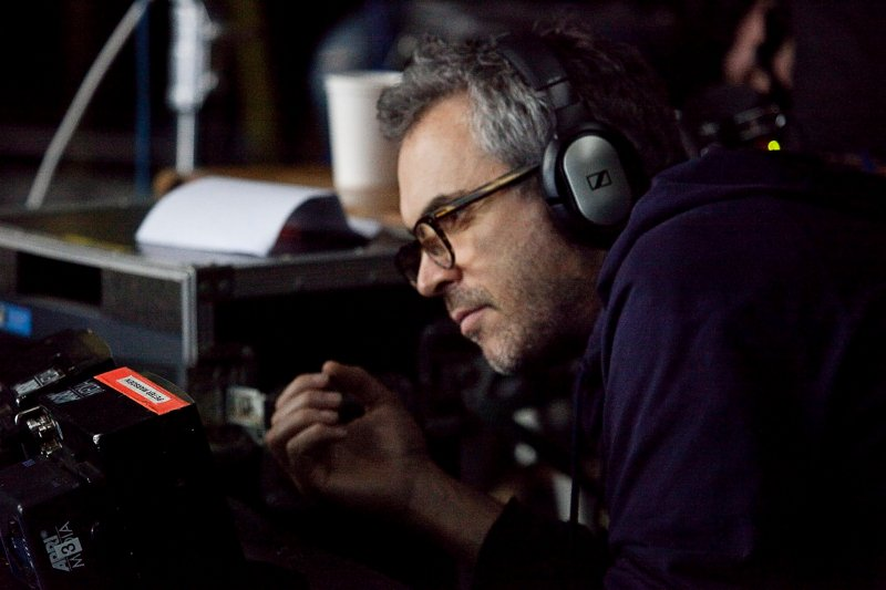 Director Alfonso Cuarón on the set of Gravity. (Julio Hardy/Warner Bros. )