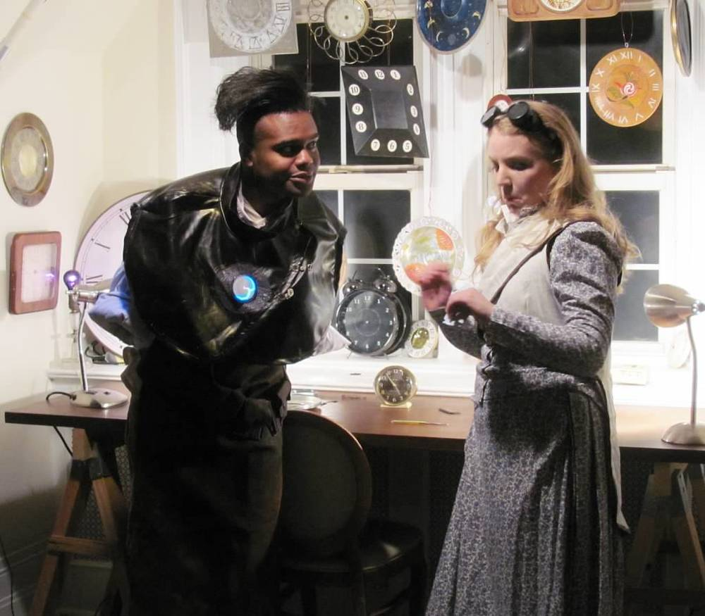 Sebastian Cummings as Labraid the Clocksmith and Dana Haberern as Persephone Proserpina