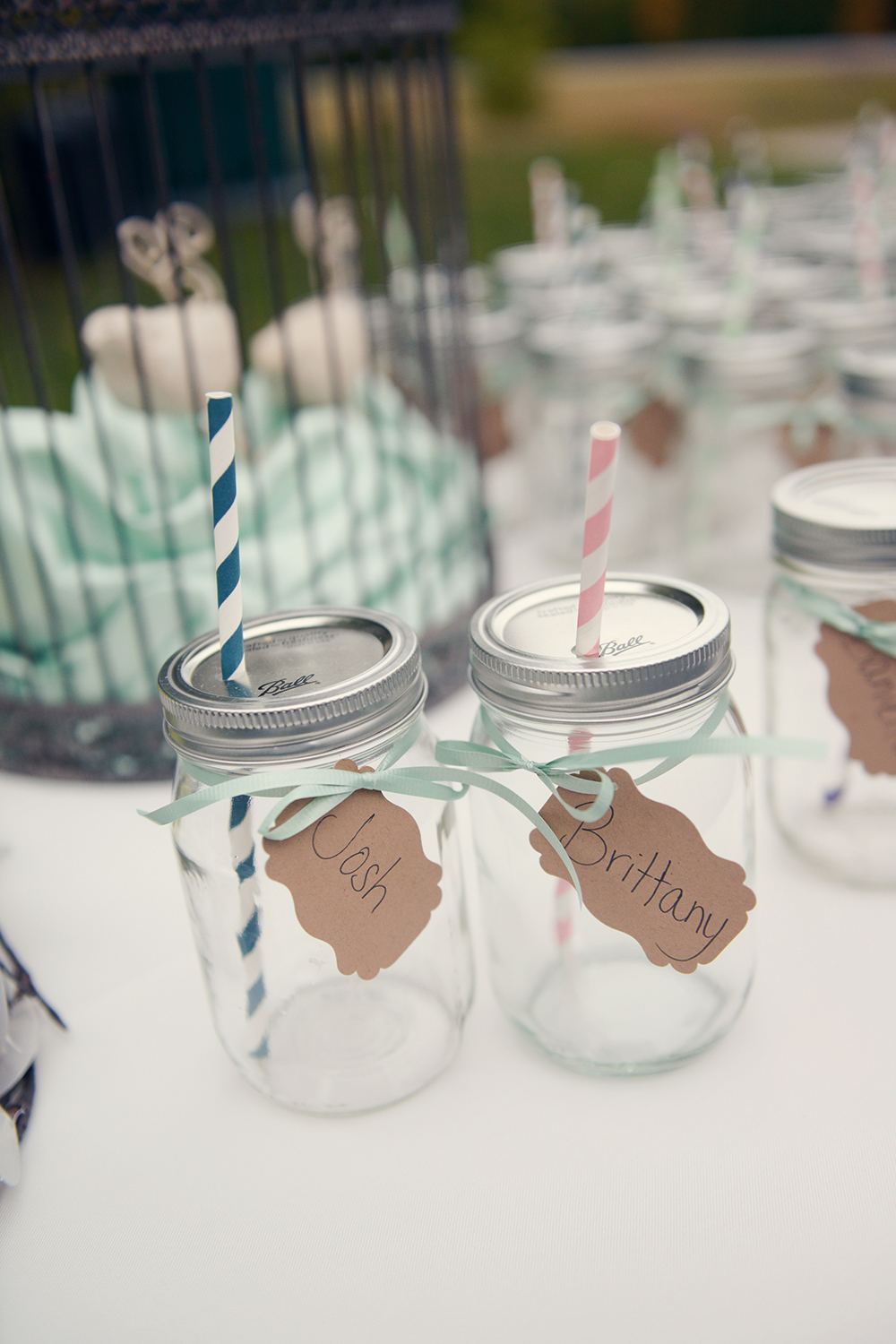 mason jars for weddings-brittany and josh1