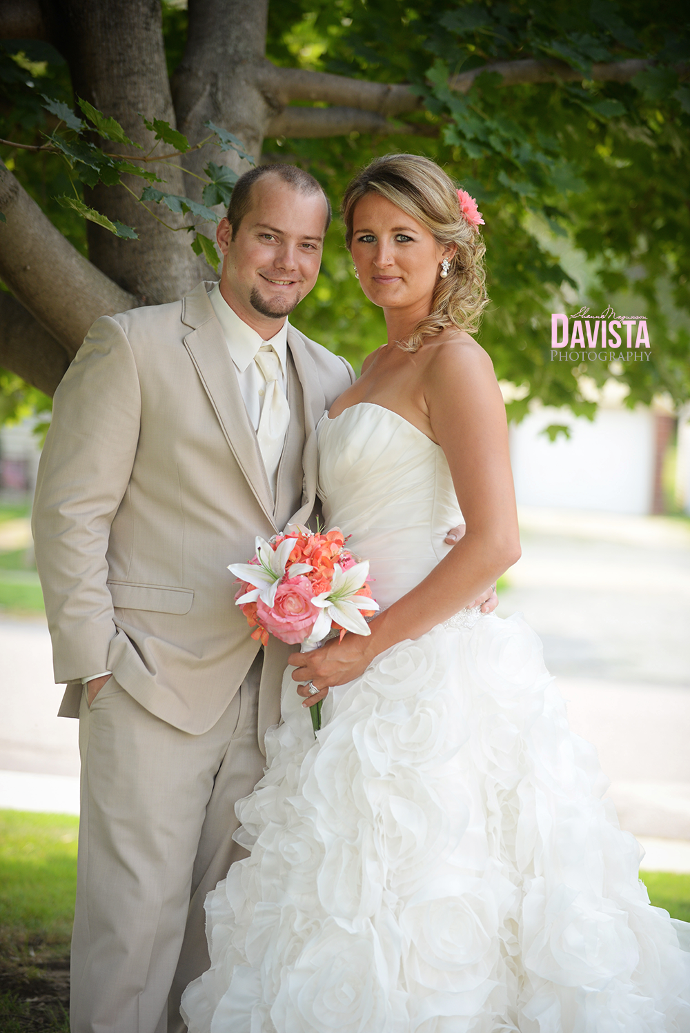 formal bride and groom photograph