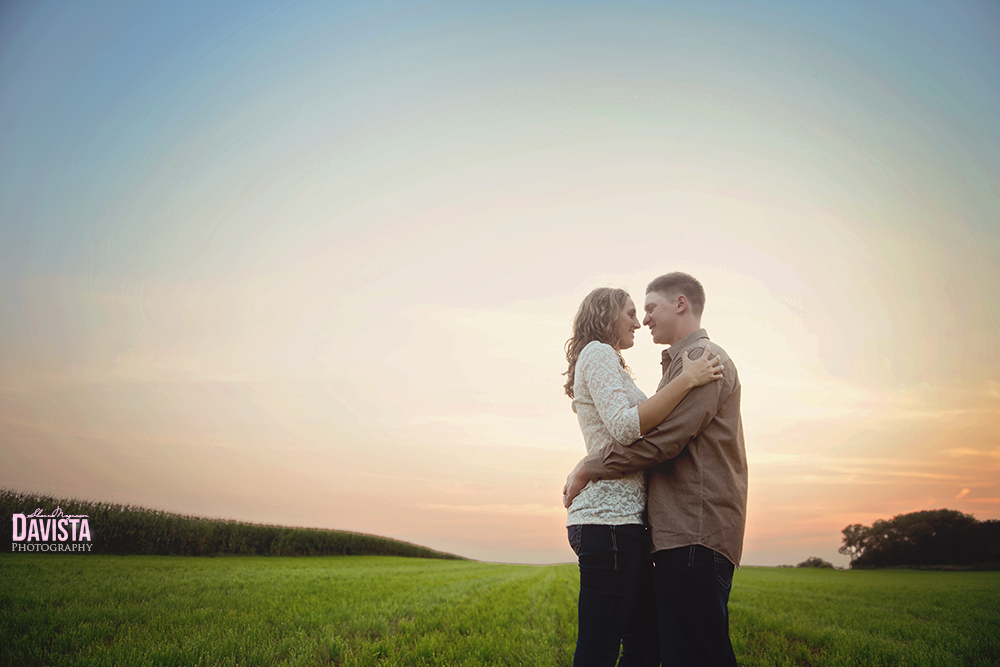 minnesota rustic farm engagement session