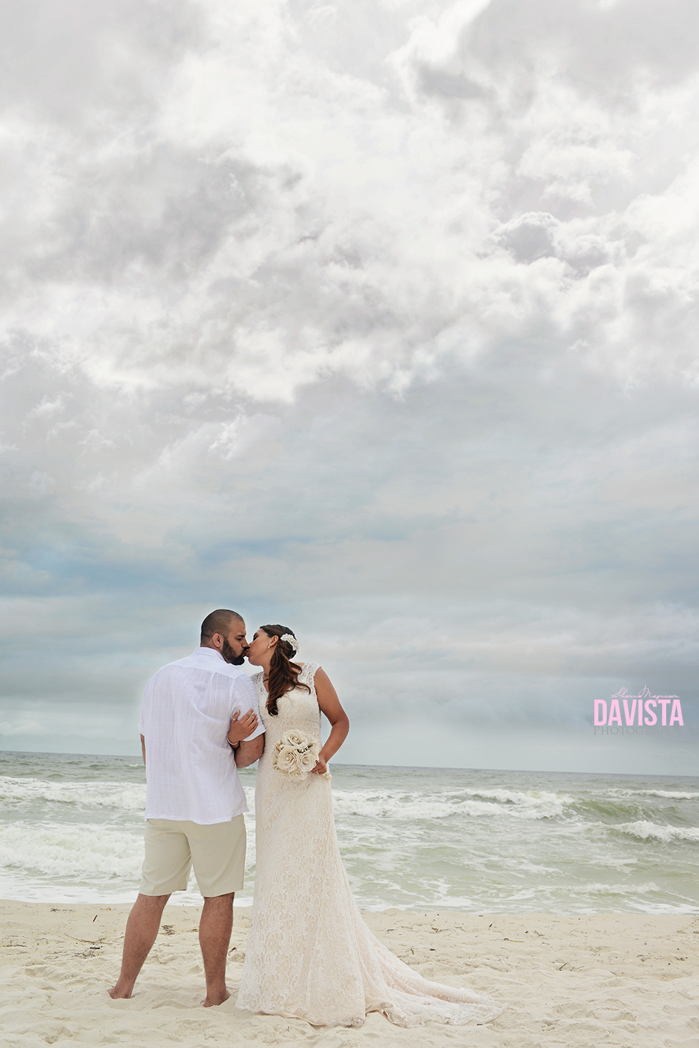 cloudy overcast wedding day navarre beach
