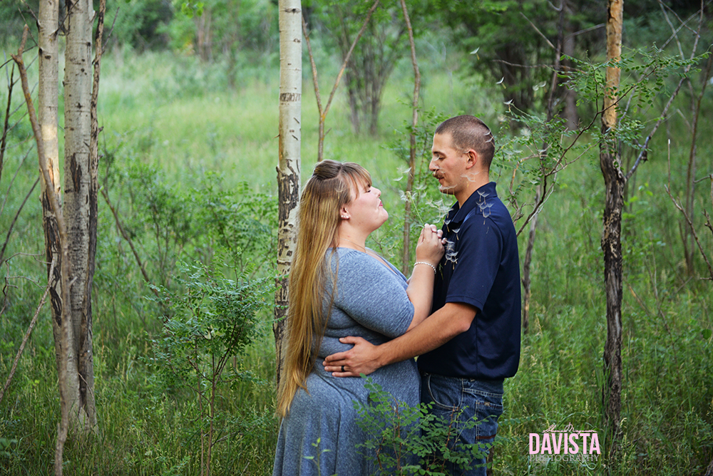cute photographs in the forest for virginia engagement