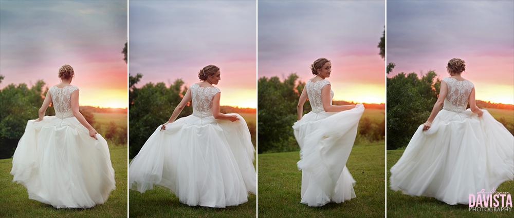 bridal portraits at sunset