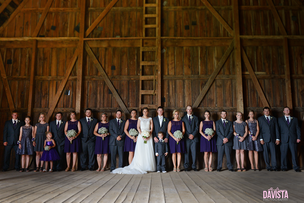 minnesota farm rustic chic wedding party