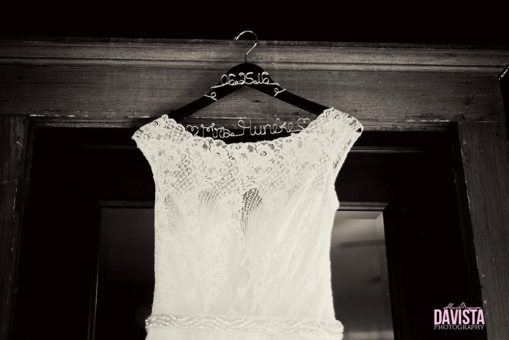 cute wedding dress hanger black and white