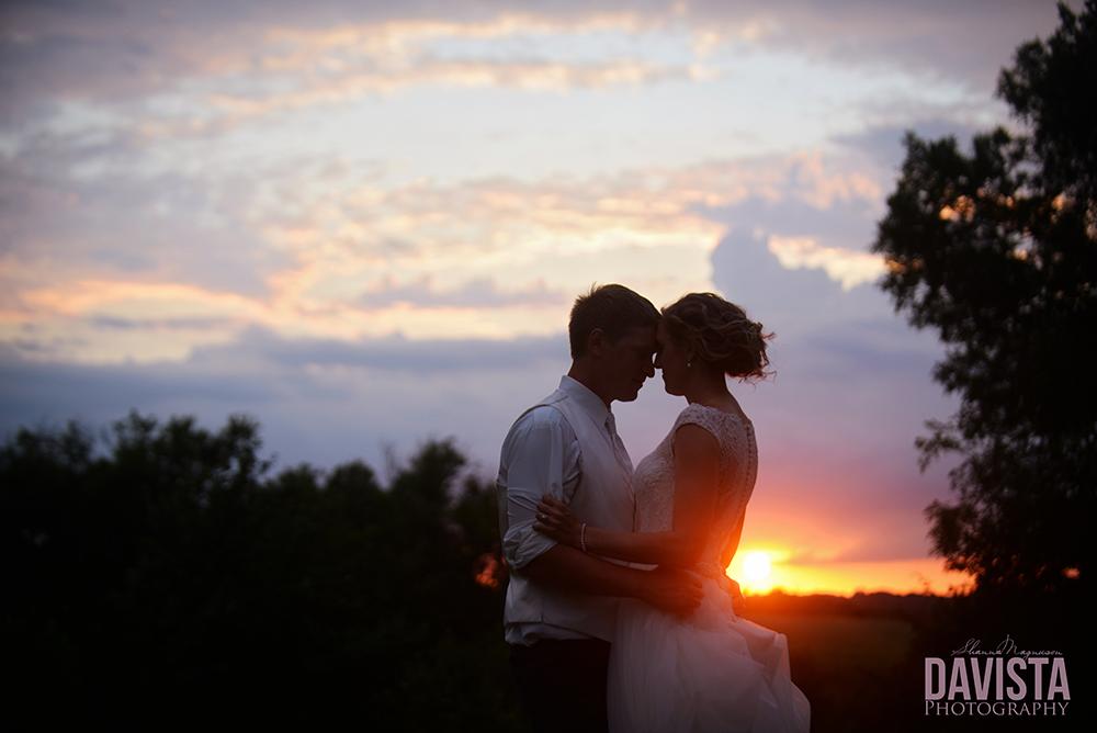 minnesota sunset and wedding