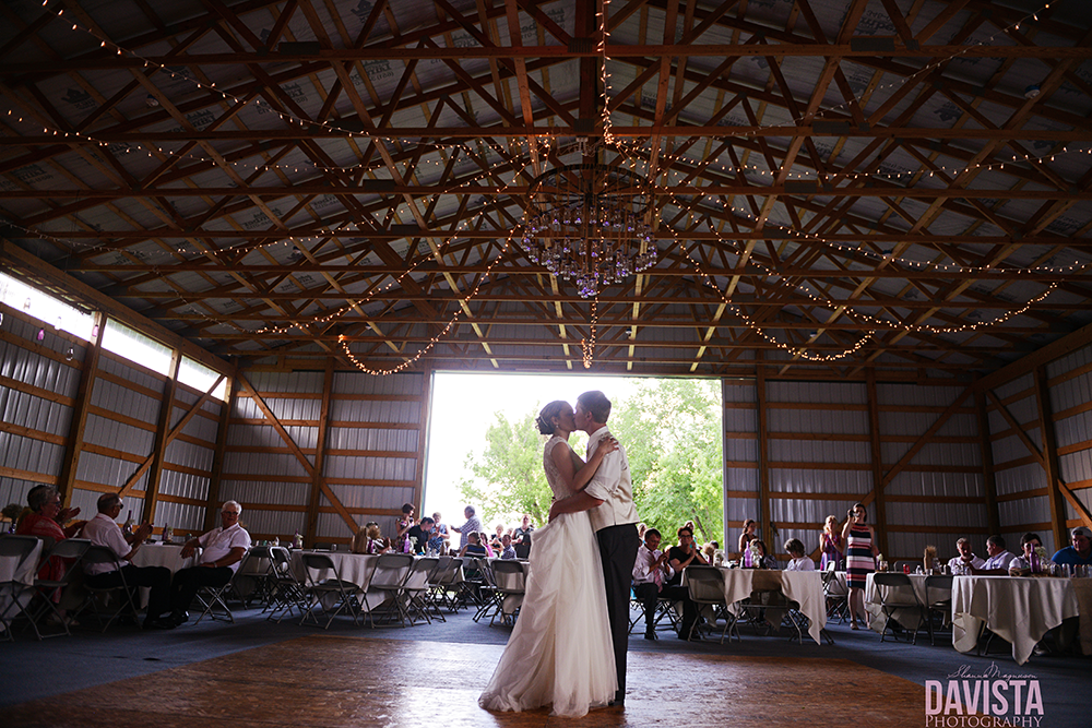 farm reception DIY chandelier