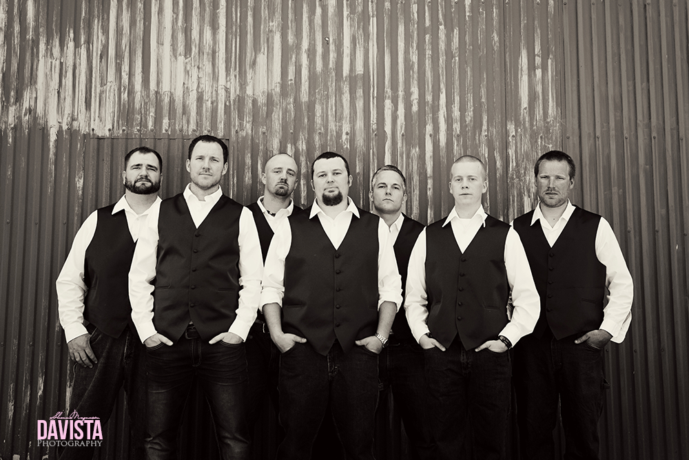 groomsmen black and white photographs