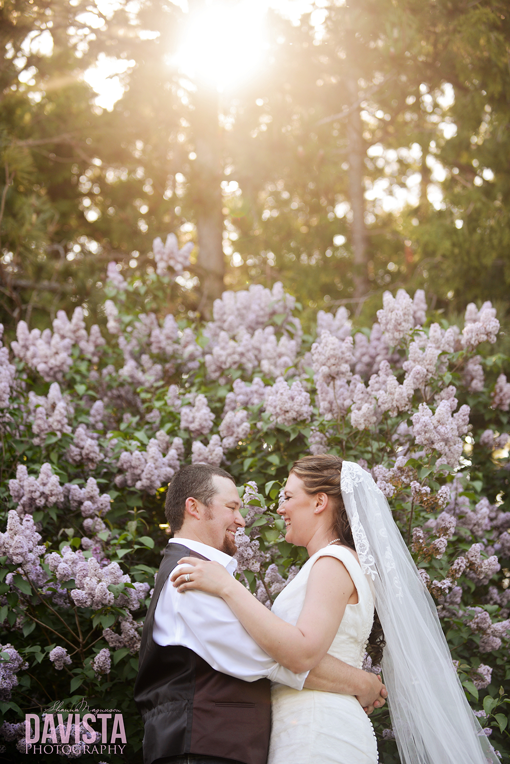 outdoor farm wedding by lilacs