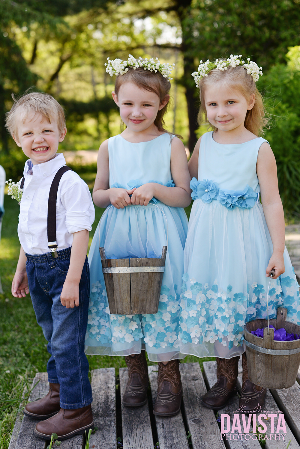 rustic chic flower girl and ring bearer