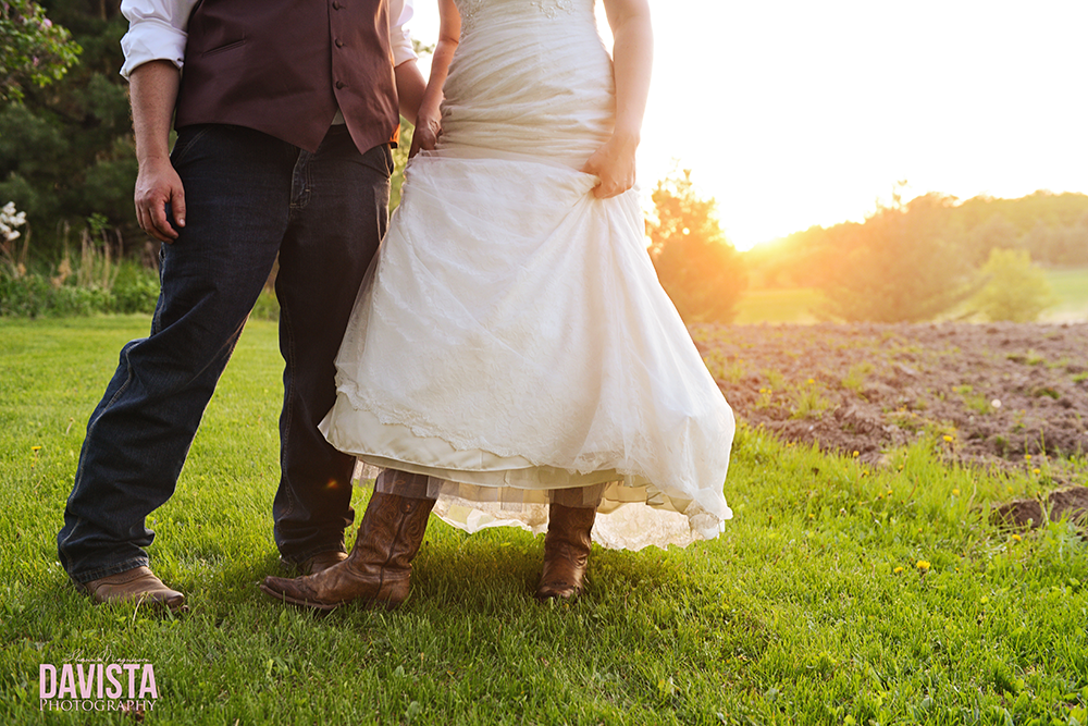 cowboy boots with a wedding gown