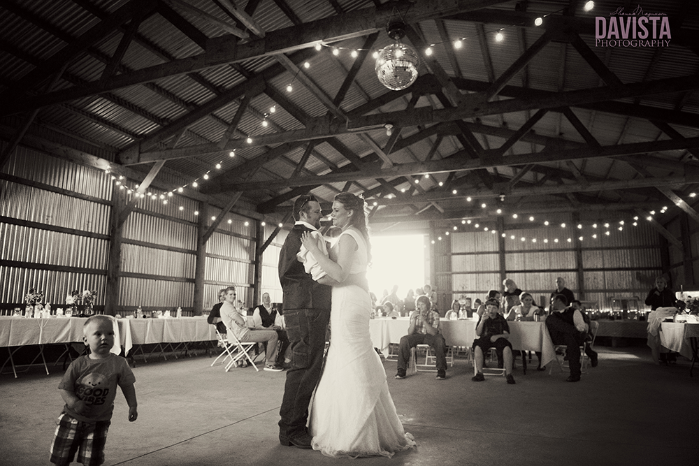 farm wedding reception dance