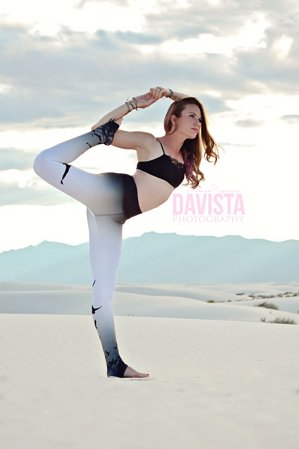 beautiful poised yoga fitness photography
