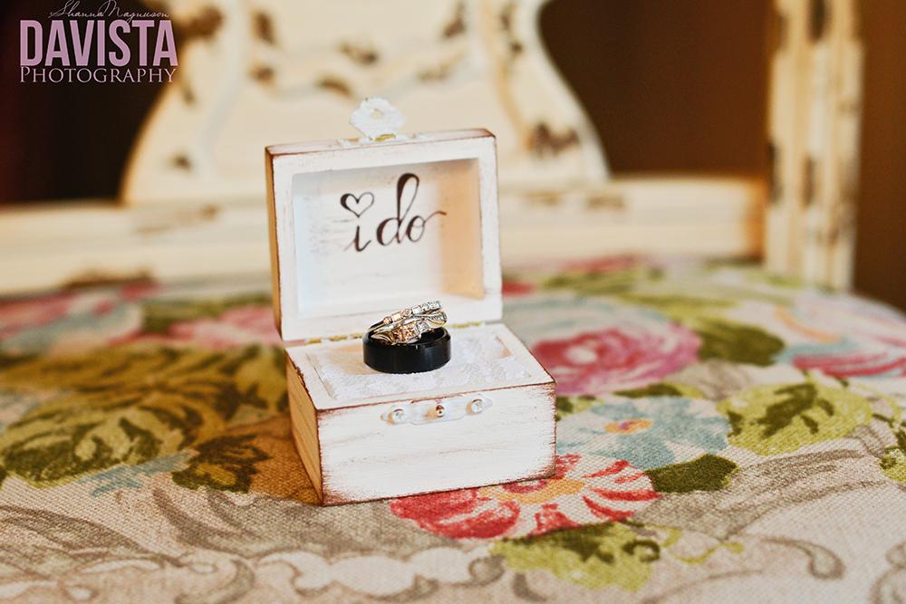 personalized i do wedding ring box