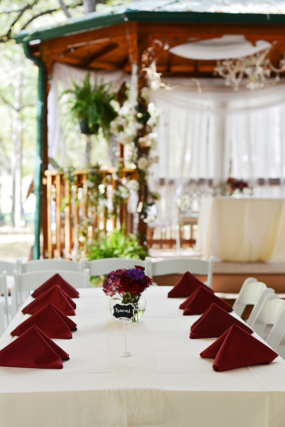 details for the wedding day decor