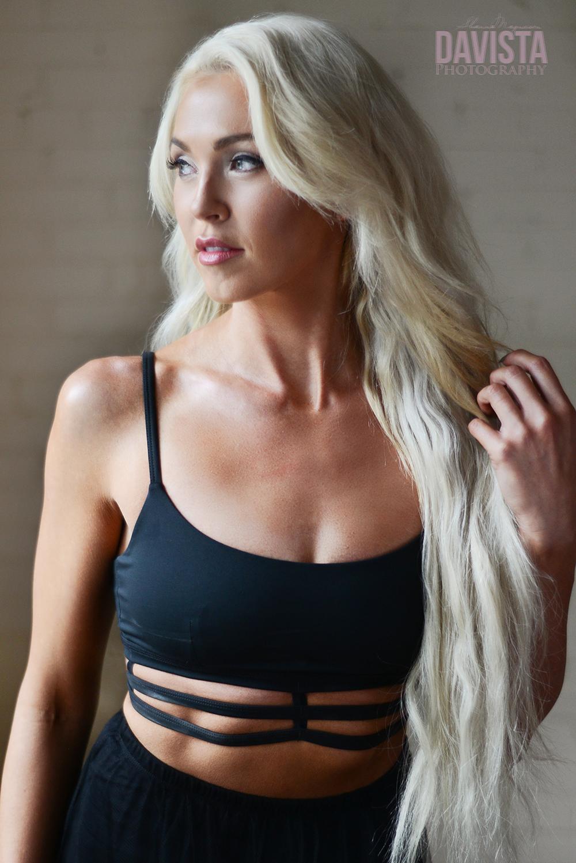 fitness model and sponsored athlete portrait