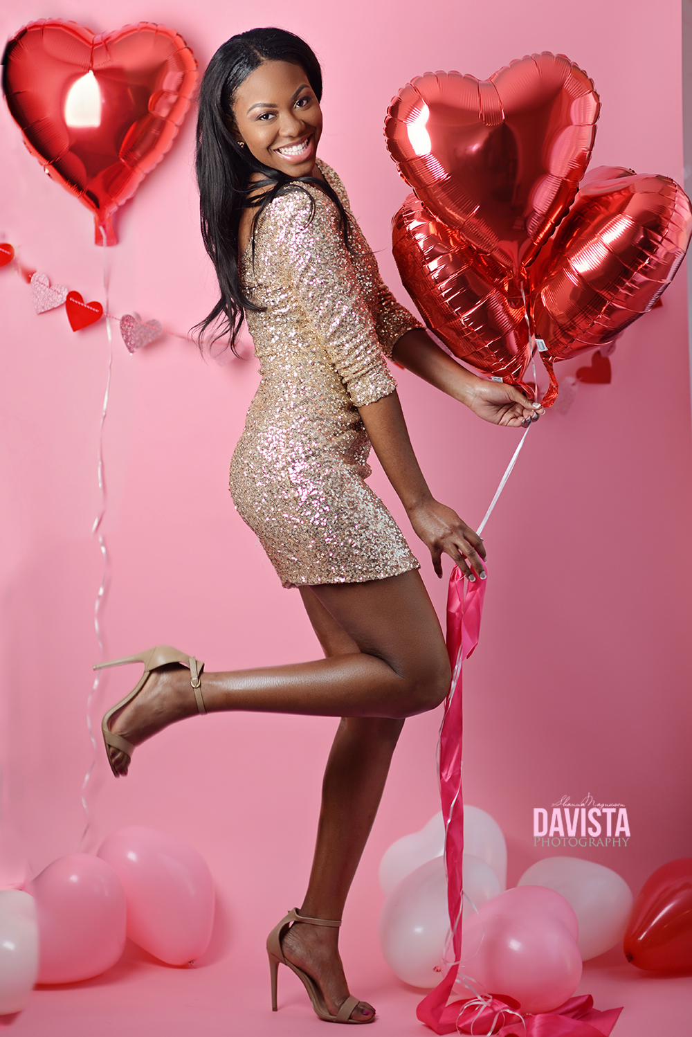 beautiful valentines inspired glamour photoshoot with model